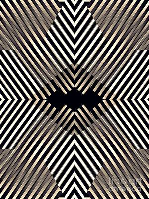 Diamond Illusion In Sepia Poster by Sarah Loft