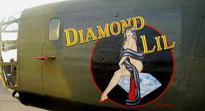 Diamond Lil B-24 Bomber Poster by Amy McDaniel
