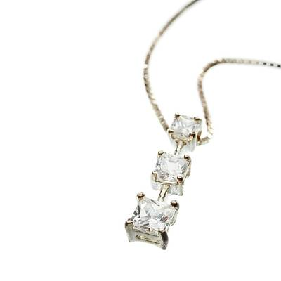 Diamond Necklace Poster by Science Photo Library