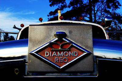 Poster featuring the photograph Diamond Reo Hood Ornament by Bartz Johnson