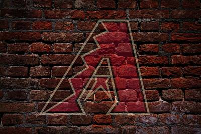 Diamondbacks Baseball Graffiti On Brick  Poster by Movie Poster Prints