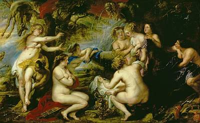 Diana And Callisto Poster by Peter Paul Rubens