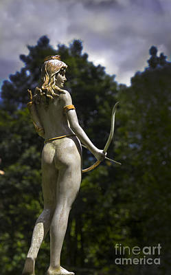 Diana - Goddess Of The Hunt Poster by Al Bourassa