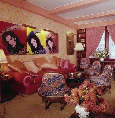 Diane Von Furstenberg's New York Living Room Poster by Horst P. Horst