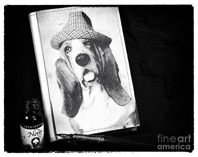 Diary Of A Basset Hound Poster by John Rizzuto