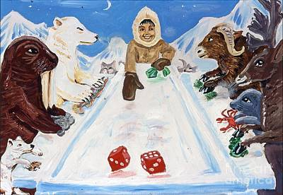 Dice On Ice Poster by James McFarlin