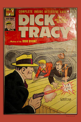 Dick Tracy Iron Room Comic Book Poster