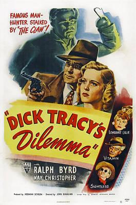 Dick Tracys Dilemma, Upper Center Poster