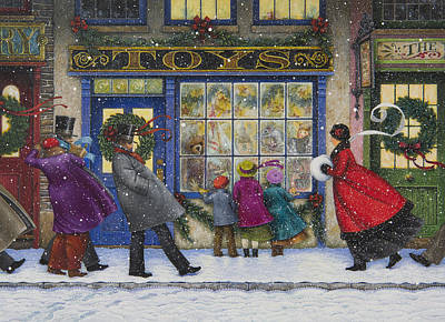 The Toy Shop Poster by Lynn Bywaters