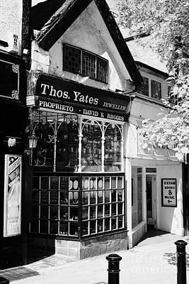 dickensian frontage of thomas yates jewellers shop Preston England UK Poster