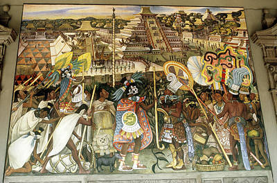 Diego Rivera Mural Poster by Dick Davis
