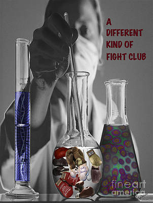 Poster featuring the digital art Different Kind Of Fight No1 by Megan Dirsa-DuBois