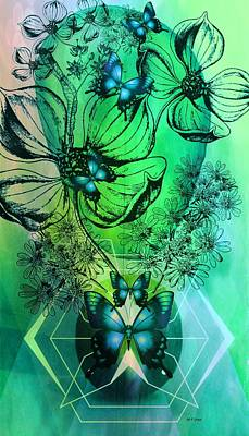 Digital Floral 14-3 Poster by Maria Urso