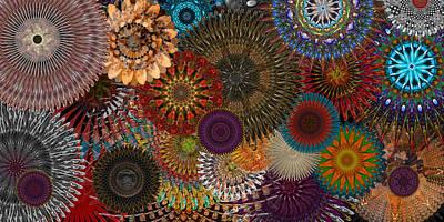 Digital Flowers 001 Poster by Stuart Turnbull