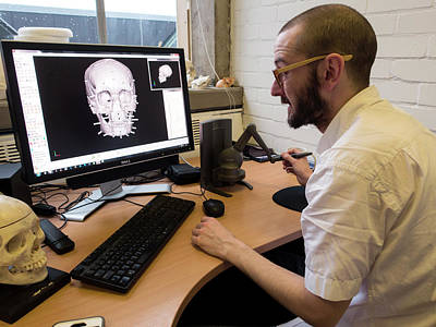 Digital Forensic Facial Reconstruction Poster by Louise Murray