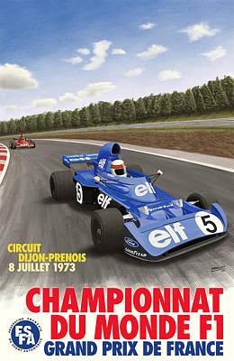 Dijon Prenois French Grand Prix 1973 Poster by Georgia Fowler