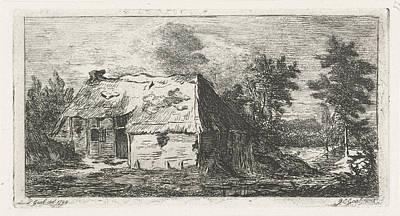 Dilapidated Peasant Cabin, Jacobus Cornelis Gaal Poster