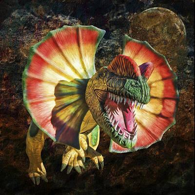 Dilophosaurus Spitting Dinosaur Poster