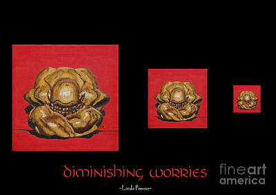 Poster featuring the painting Diminishing Worries by Linda Prewer