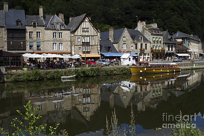 Dinan - Old Town By The Riverside Poster by Heiko Koehrer-Wagner