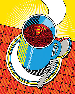 Diner Coffee Poster by Ron Magnes
