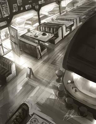 Diner Interior Poster by Alex Ruiz