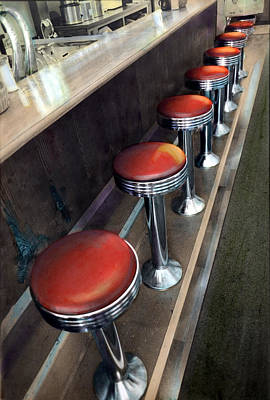 Diner Stools Poster
