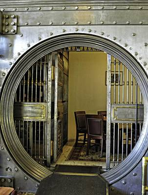 Dining In The Vault At Metals Bank Poster by Image Takers Photography LLC - Laura Morgan