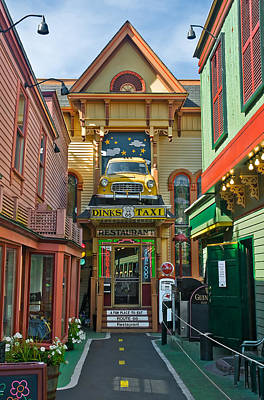 Dinks Taxi In Bar Harbor Poster