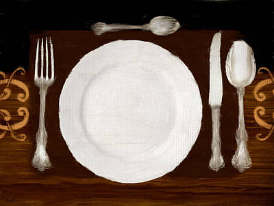 Dinner For One Poster by Lourry Legarde