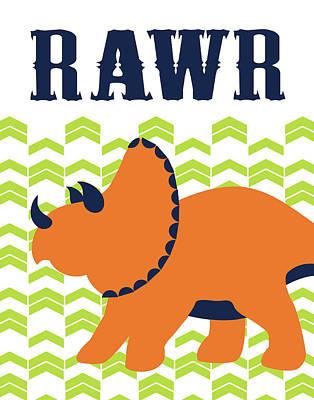 Dino Rawr Poster by Tamara Robinson