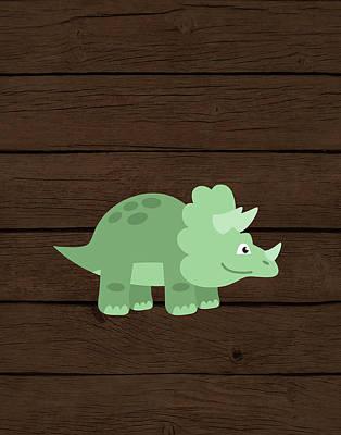 Dinosaur Wood II Poster by Tamara Robinson
