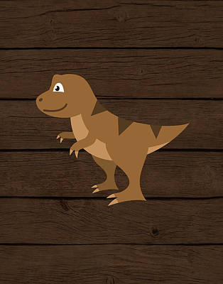 Dinosaur Wood Iv Poster by Tamara Robinson
