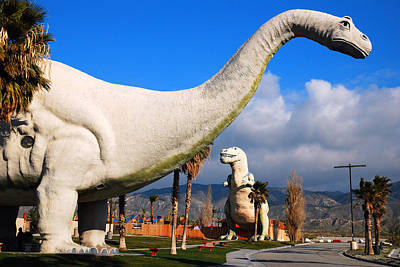 Poster featuring the photograph Dinosaurs Of Cabazon by James Kirkikis