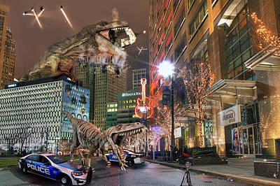 Dinotroit Poster by Nicholas  Grunas