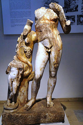 Dionysos With Satyr Poster
