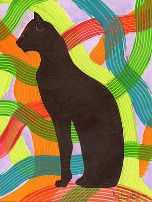 Diosa Gata Bastet Egipcia Poster by Daniel Levy policar