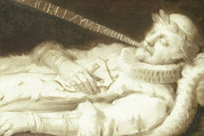 Dirk Van Bronkhorst On His Deathbed During The Siege Poster by Litz Collection