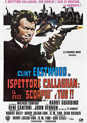 Dirty Harry Aka Ispettore Callaghan Il Poster by Everett