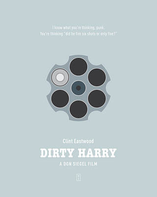 Dirty Harry Poster by Smile In The  Mind