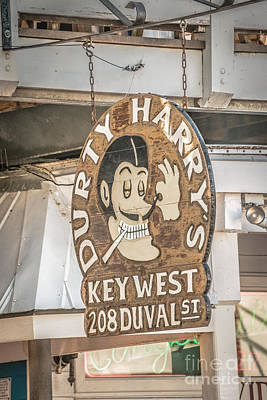 Dirty Harry's Key West - Hdr Style Poster by Ian Monk