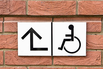 Disabled Sign Poster by Tom Gowanlock