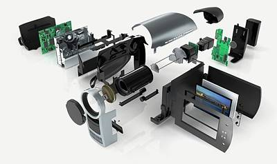 Disassembled Parts Of A Camcorder Poster by Dorling Kindersley/uig