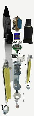 Disassembled Parts Of Ariane 5 Space Rock Poster by Dorling Kindersley/uig
