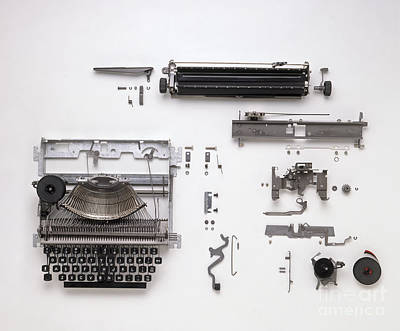 Disassembled Typewriter Poster by Dave King / Dorling Kindersley / Allens Typewriters Ltd