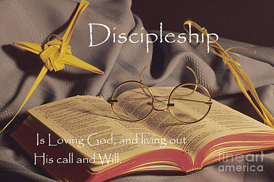Discipleship Poster by Sharon Elliott
