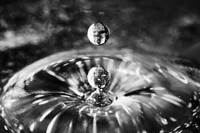 Disco Water Drop Poster by Arkady Kunysz