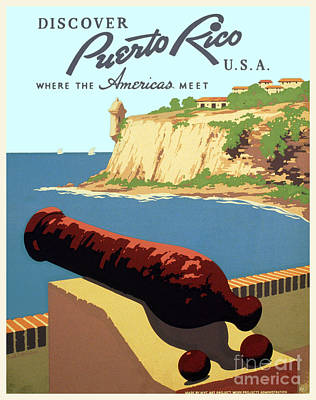 Discover Puerto Rico Usa - Wpa Poster - 1938 Poster by Pablo Romero