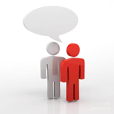 Discussion Blank Speech Bubbles Poster