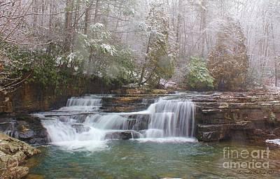 Dismal Falls In Winter Poster